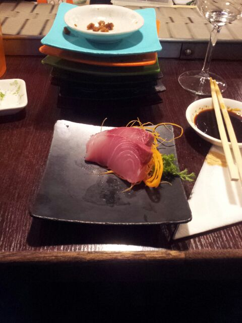 Yellow Fin Tuna Sashimi at Harry's! Best Ever!