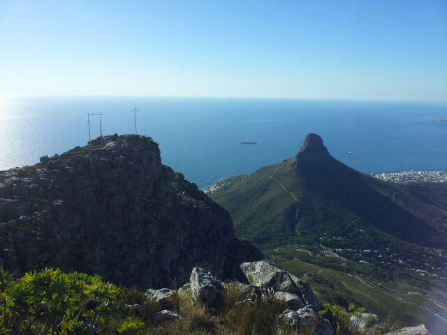 Looking out at Lion's Head