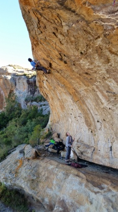 Ivan on Rage Against the Machine (7c)