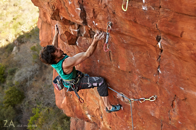 An amazing move on Shear Force (8c)