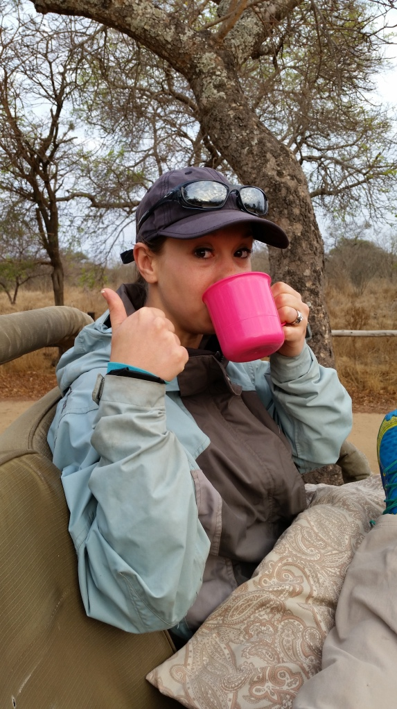 Coffee on the game drive