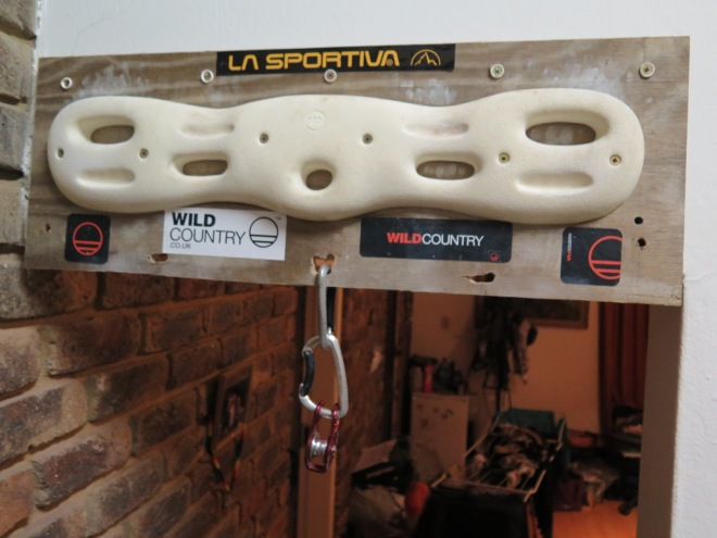 My new Moon Hangboard and pulley system!