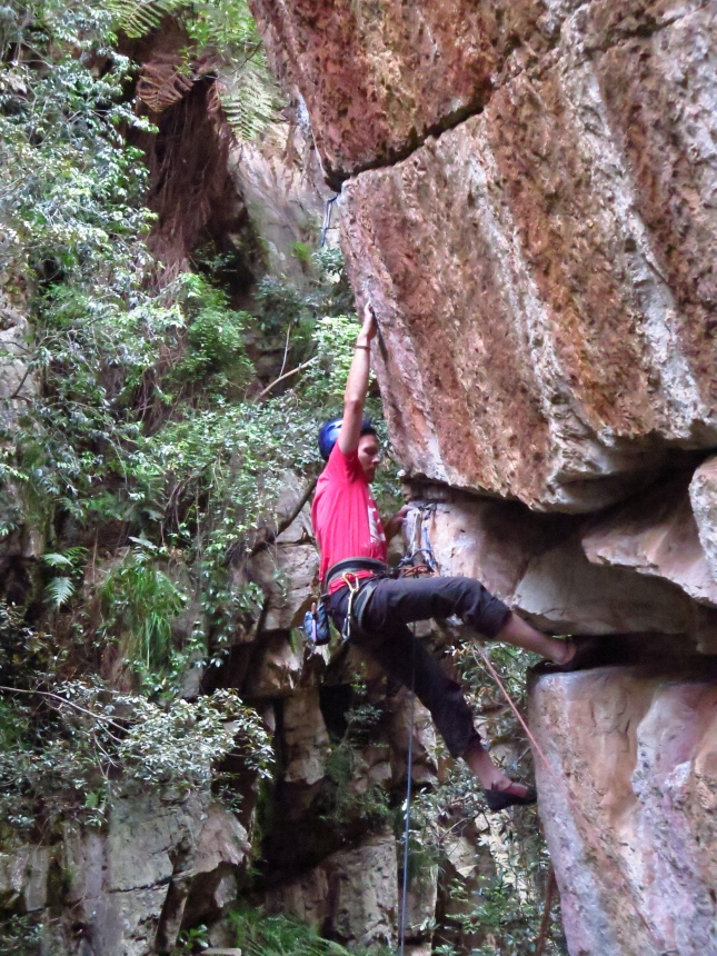 Andrew getting ready to approach the crux of Fear and Loathing
