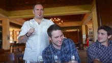 Ian and Michael at the tasting